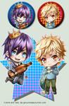 +Noragami - Yukine and Yato keychains+