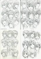 +2014 OC  Face angle study+ by goku-no-baka