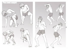 +Boys Expression and Pose book sample+