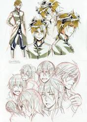 +Copic and pencil doodles+ by goku-no-baka