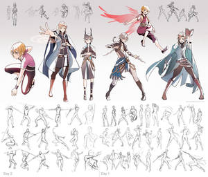 + Poses and character Practice +