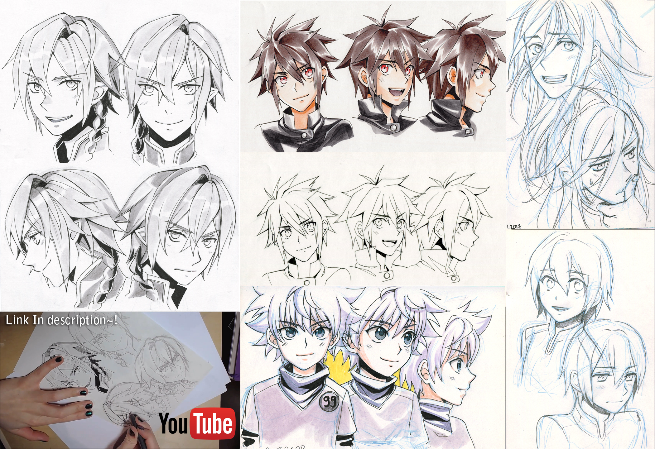 + Twitter Traditional doodle dump and Video + by goku-no-baka