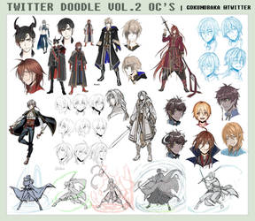 TWITTER OC DOODLE AND DESIGNS! VOL.2 by goku-no-baka