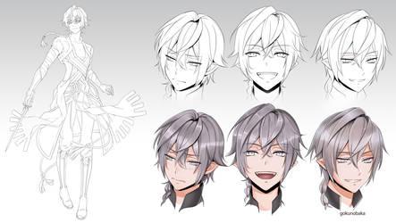 +Character design WIP Deiryn+ by goku-no-baka