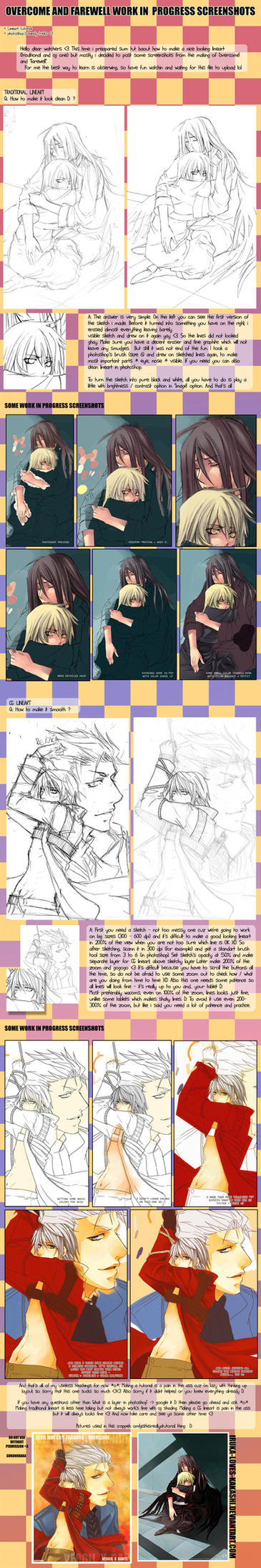 +LINEART tutorial and WIP + by goku-no-baka