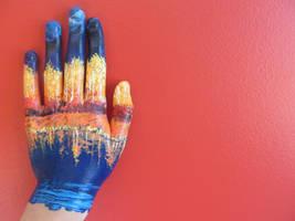hand, mine