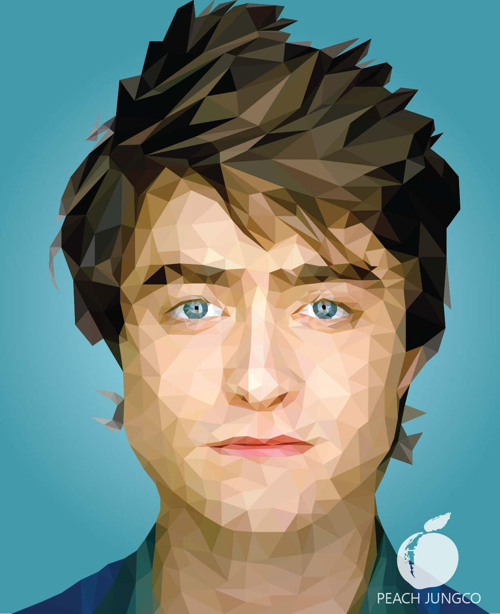 illustration low poly portrait daniel radcliffe by pjungco on deviantart. Black Bedroom Furniture Sets. Home Design Ideas