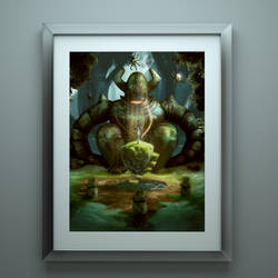 Forest Sword Guardian - 24 x 36 exclusive print by RoseColoredGaming