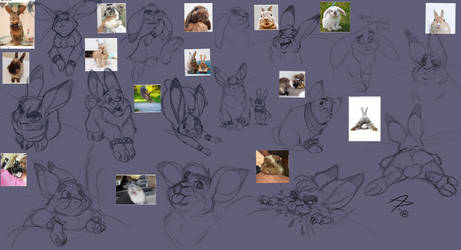 Bunnies Sketchdump by fnook