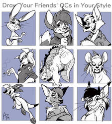 Draw your friends OC'S challenge by fnook