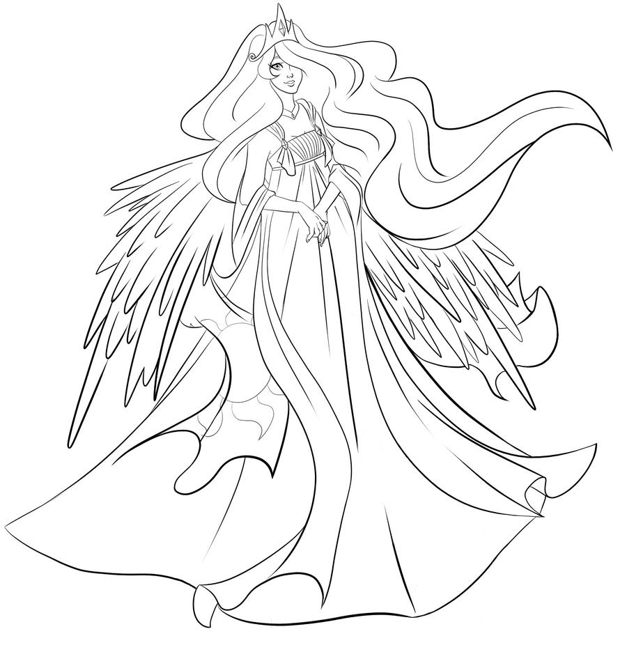 Princess luna printable coloring pages - My Little Pony Coloring Pages Princess Luna Coloring Page Princess Luna Human Mlp Luna Coloring