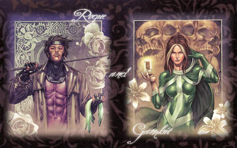 gambit wallpapers. Rogue + Gambit Wallpaper by