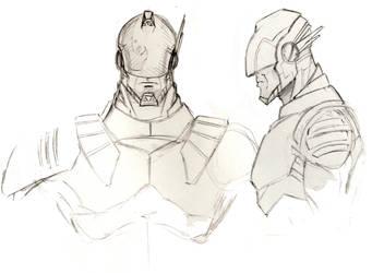 Captain Power Redesign Sketches