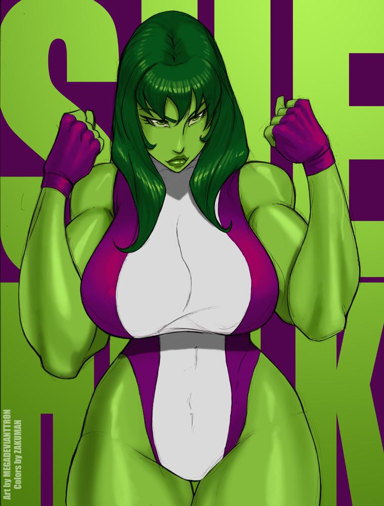 SHE-HULK Zaku colors by megadevianttron