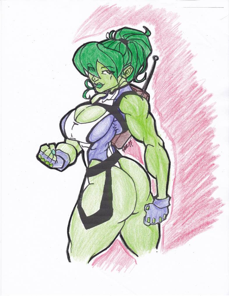 PONY TAIL SHE-HULK ref. colors by megadevianttron
