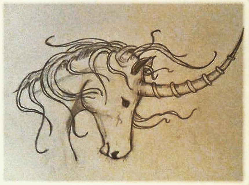 Sad unicorn by ElessarPhantasyArt
