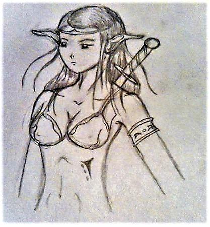 Elfa guerrera by ElessarPhantasyArt