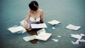 Drowning in a book