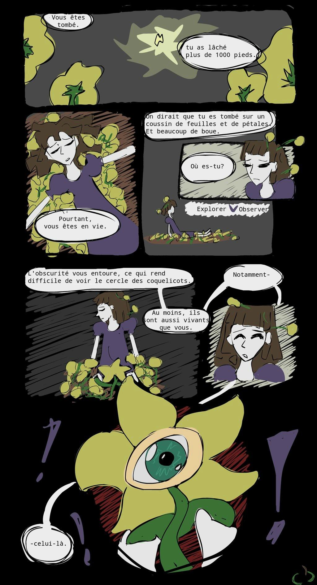 Horrortale en francais (in french) 1: Tombe by MSmelodys0ul