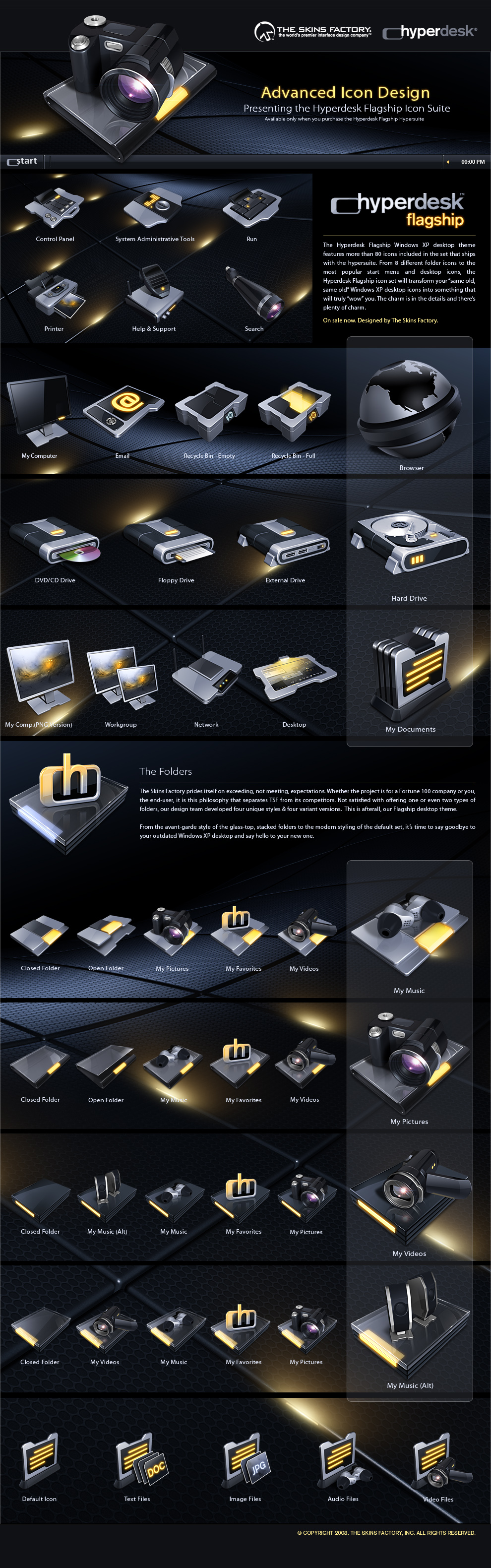 Hyperdesk Flagship Icon Set by skinsfactory