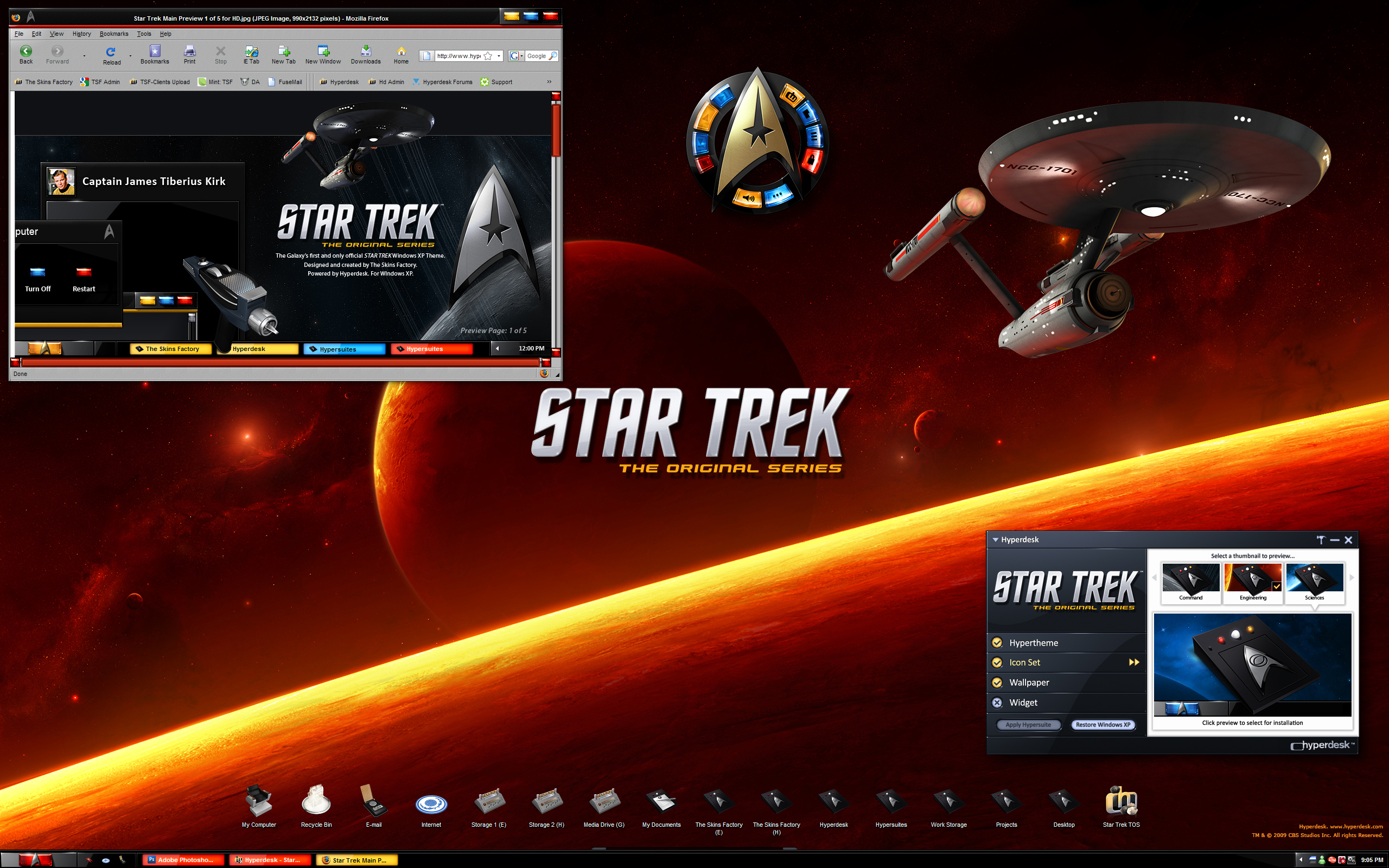 My New Star Trek Desktop by skinsfactory
