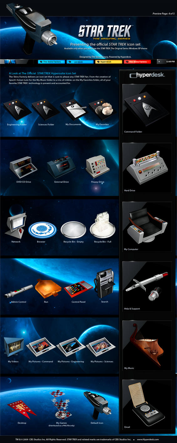 Star Trek Icon Set by skinsfactory