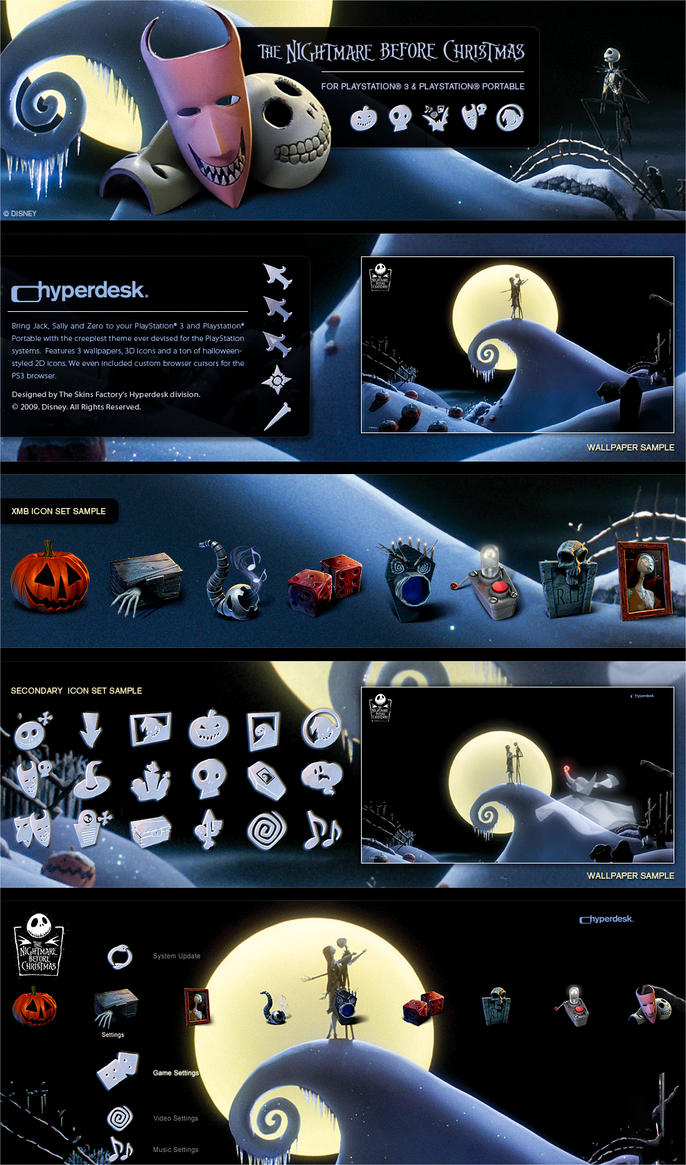 Nightmare Before Christmas PS3 by skinsfactory on DeviantArt
