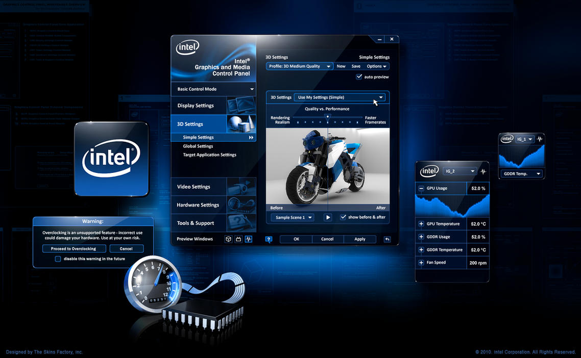 Intel Graphics Control Panel by skinsfactory on DeviantArt