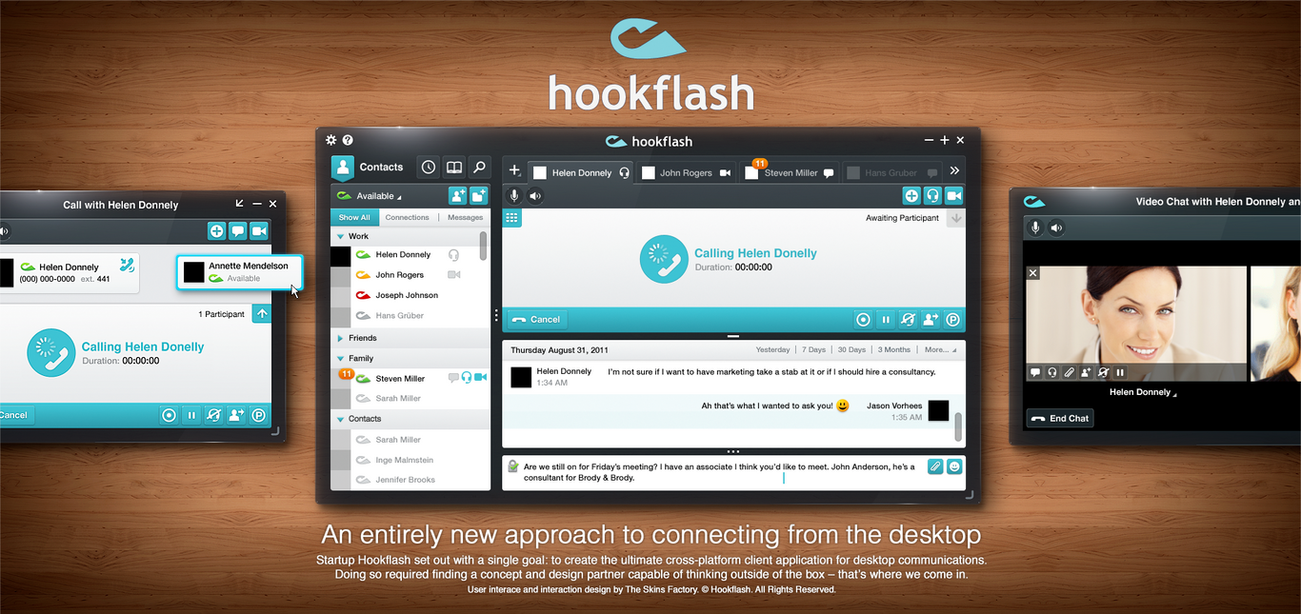 Hookflash User Interface by skinsfactory