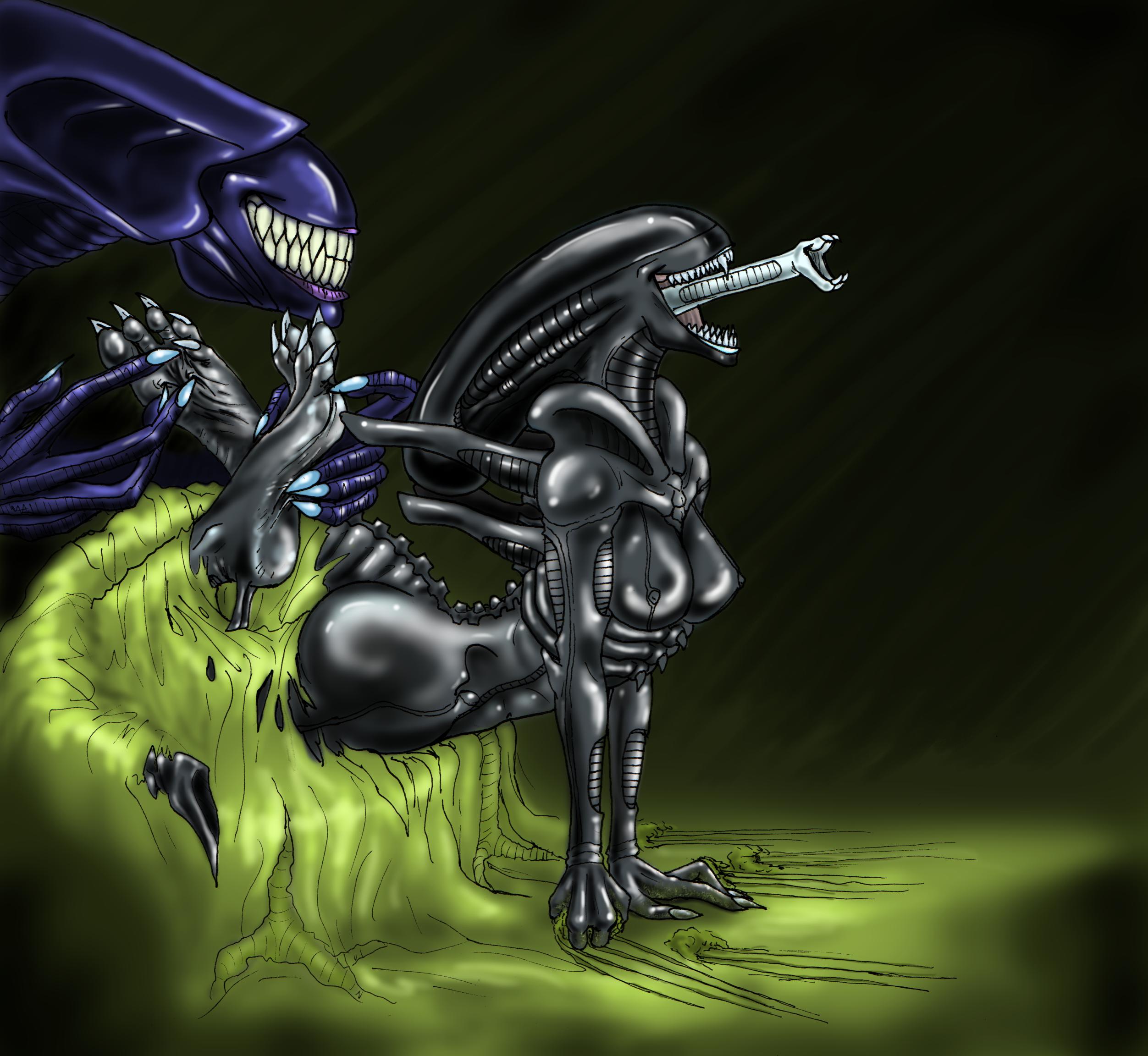 Deviantart alien porn - Queen pet sans drool blush and laughter  quintonquill hynf png 2504x2304