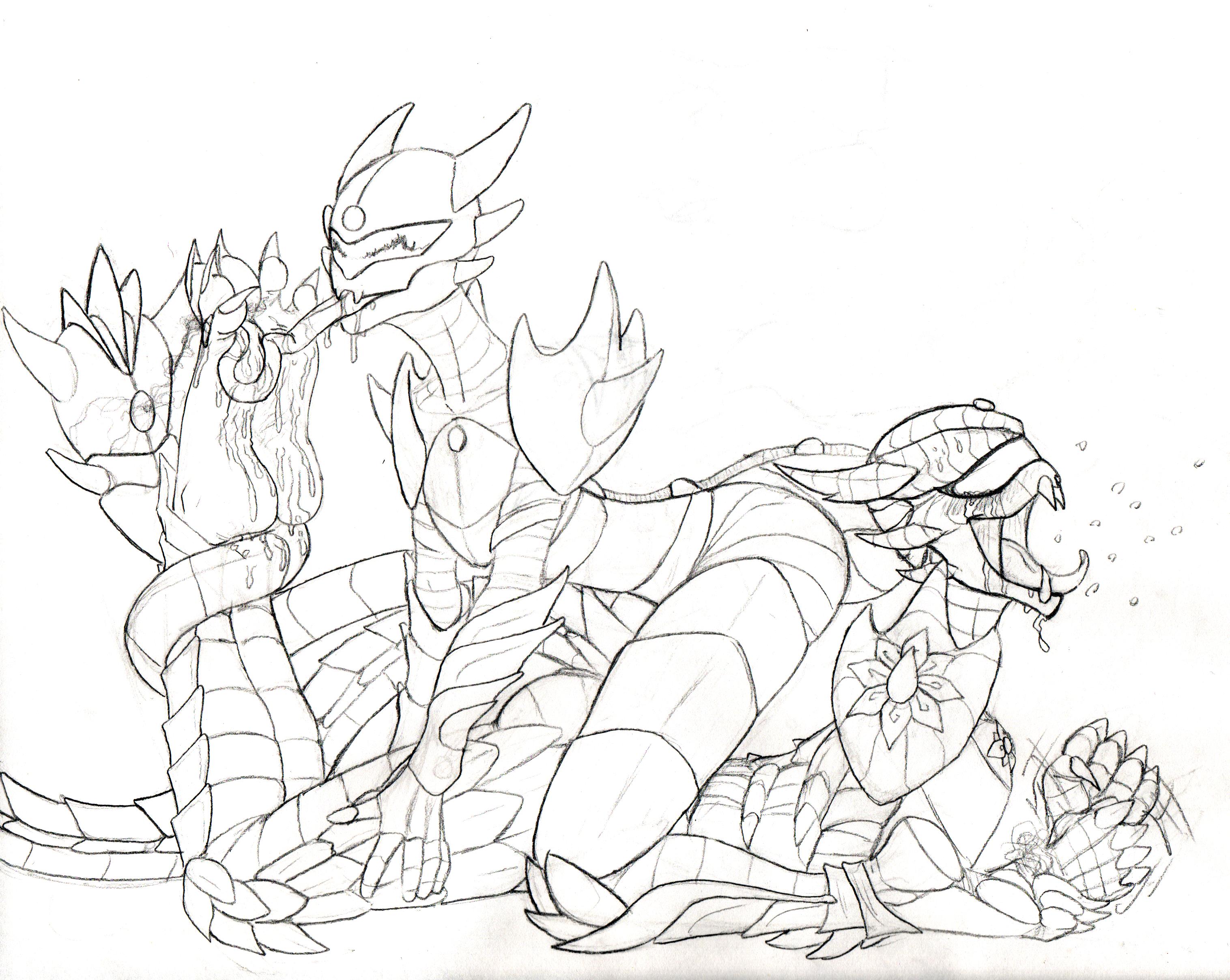 DragonLotus- vs MechaLotus by QuintonQuill