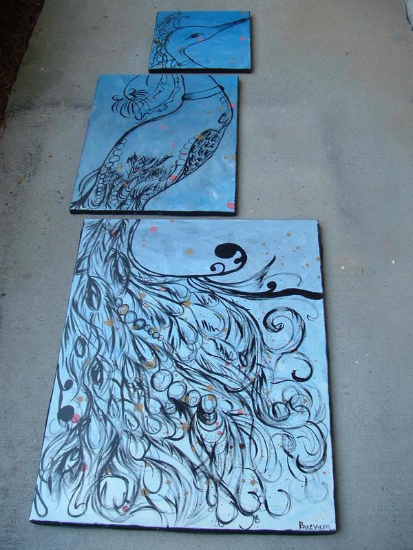 Peacock Mural by grangergirlsalsa