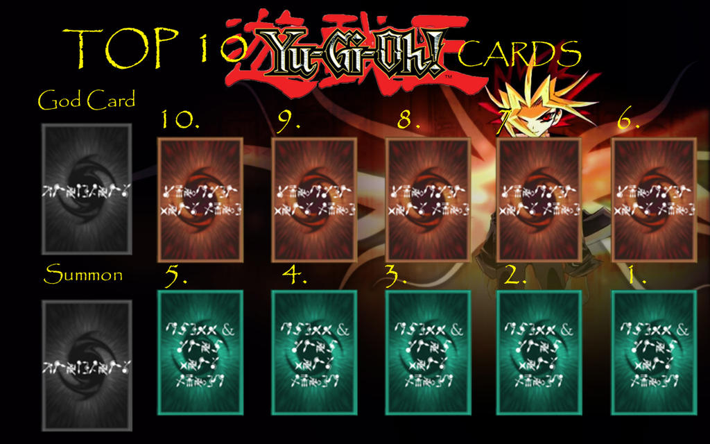 Top 10 Yugioh Cards Template by Popculture-Patron on DeviantArt