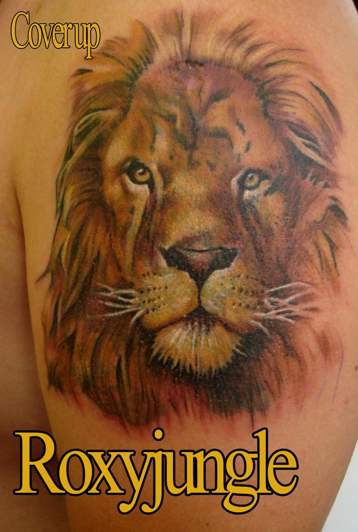 Фото тату львица с львенком