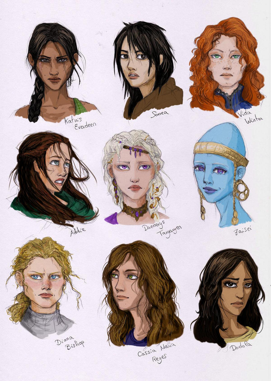 Character Design From The Ground Up Book : Female characters from books by liberlibelula on deviantart