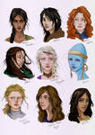 Female characters from books