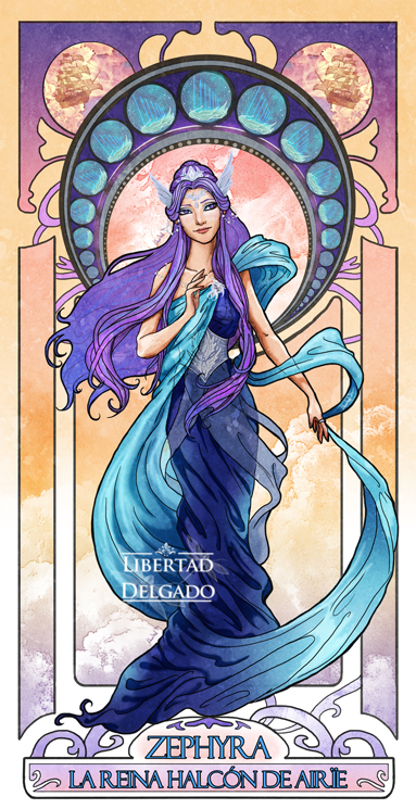 Laila Winter - Queen Zephyra by LiberLibelula