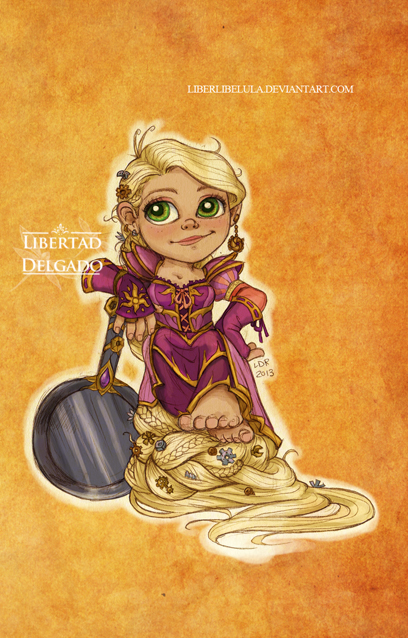 Disney meets Warcraft - Rapunzel by LiberLibelula