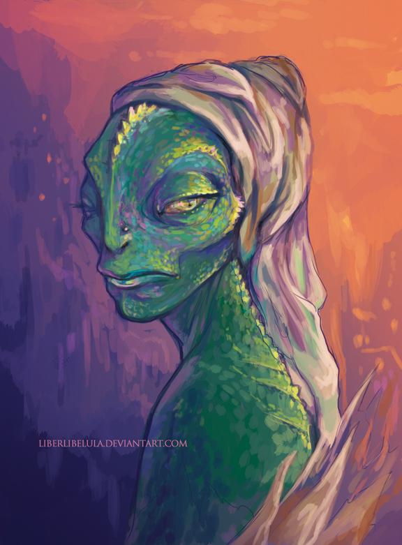 Chameleon portrait by LiberLibelula