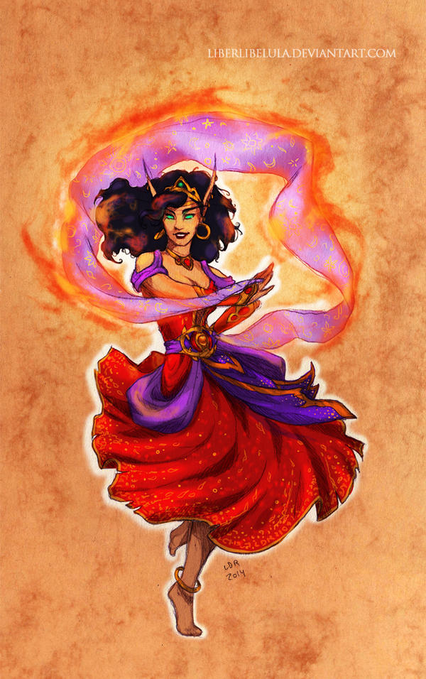 Disney meets Warcraft - Hellfire Esmeralda by LiberLibelula