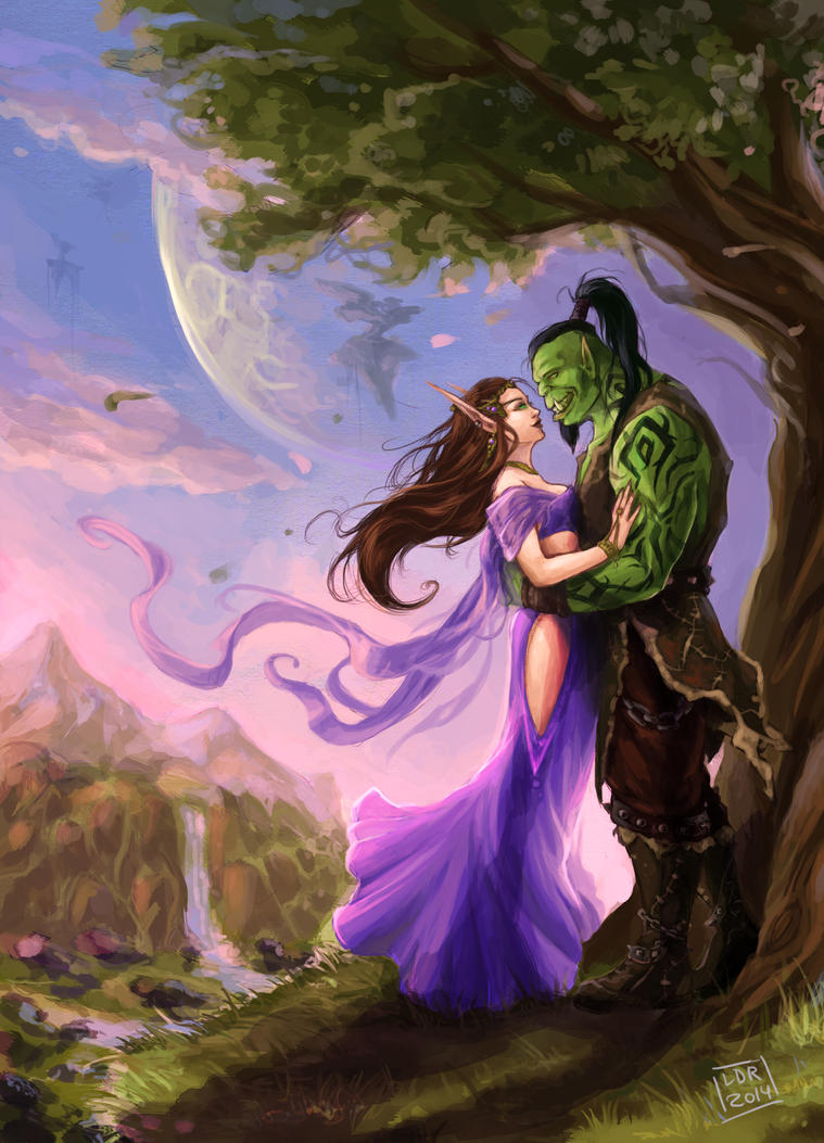 Commission - Lovers in Nagrand by LiberLibelula