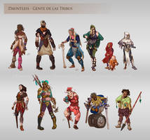 Dauntless - People of the Tribes by LiberLibelula