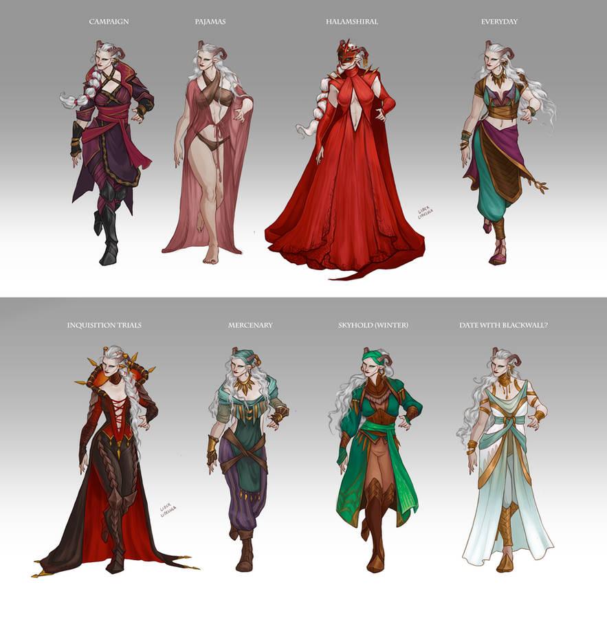 Inquisitor Adaar's Wardrobe by LiberLibelula