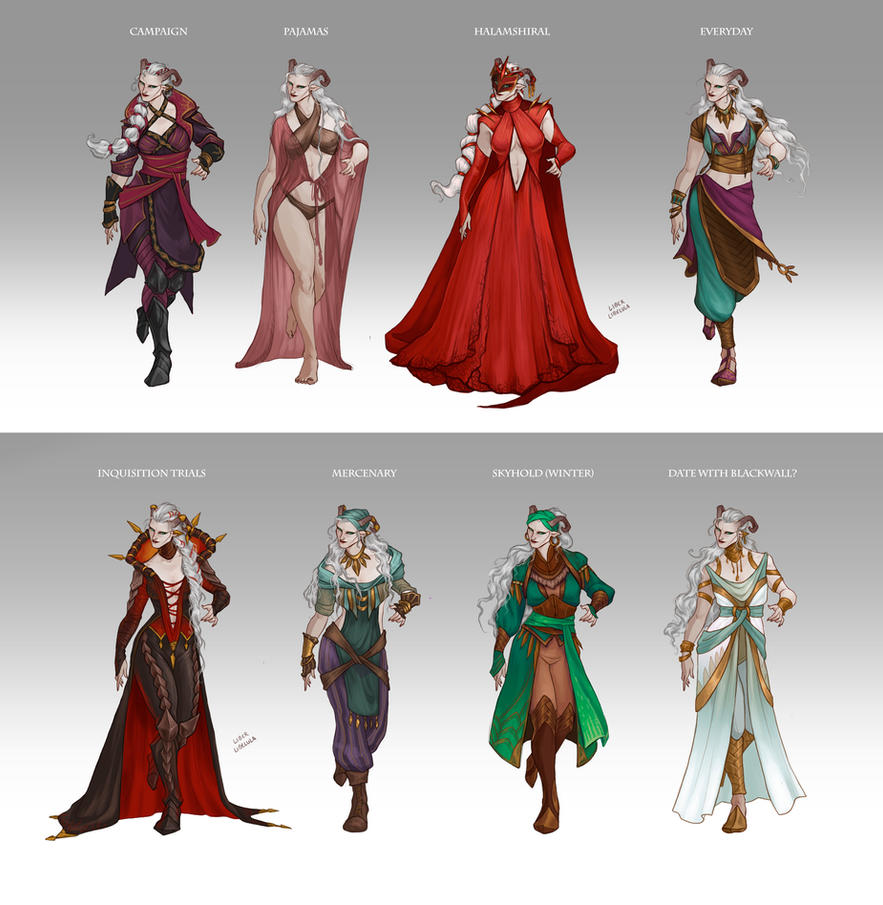 Inquisitor Adaar's Wardrobe by LiberLibelula