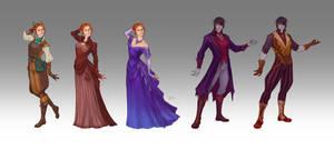 Commission - Evie and Bastian's wardrobe by LiberLibelula