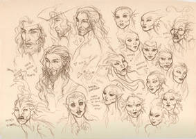 Captain and Mermaids faces by LiberLibelula