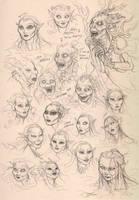 Mermaid bunch 2 by LiberLibelula
