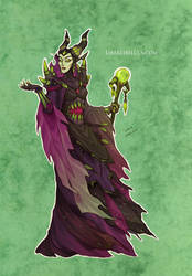 Disney meets Warcraft - Maleficent by LiberLibelula