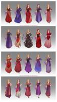 Laerith's wardrobe