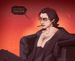 Kylo Ren with glasses